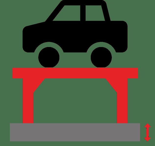 pont elevateur hauteur de dalle